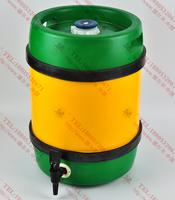 全塑柱形啤酒桶20L
